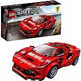 LEGO 76895 SpeedChampions FerrariF8Tributo, Juguete de Construcción de Icónico Coche de Carreras con Mini Figura
