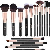 Lot de 18 pinceaux de maquillage professionnels Bestope, pinceaux de maquillage synthétiques de qualité supérieure pour...