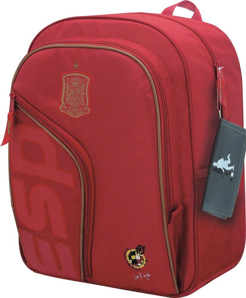 71wtcoaM vL - Selección Española La Roja Mochila Tipo Casual, 41 cm, Rojo
