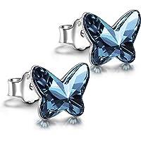 ANGEL NINA weihnachtsgeschenke für frauen, 925 Sterling Silber Ohrringe, Kristall von Swarovski, Einzigartige…