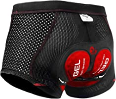 X-TIGER Ciclismo Uomo 3D Gel Imbottito Boxer Traspirante Biancheria Intimo Mutande Pantaloncini da Ciclismo Bici