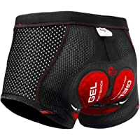 X-TIGER Men Women Cycling Undershorts 5D/3D Padded Gel Cycling Shorts Breathable & Adsorbent Quick-drying Comfortable…