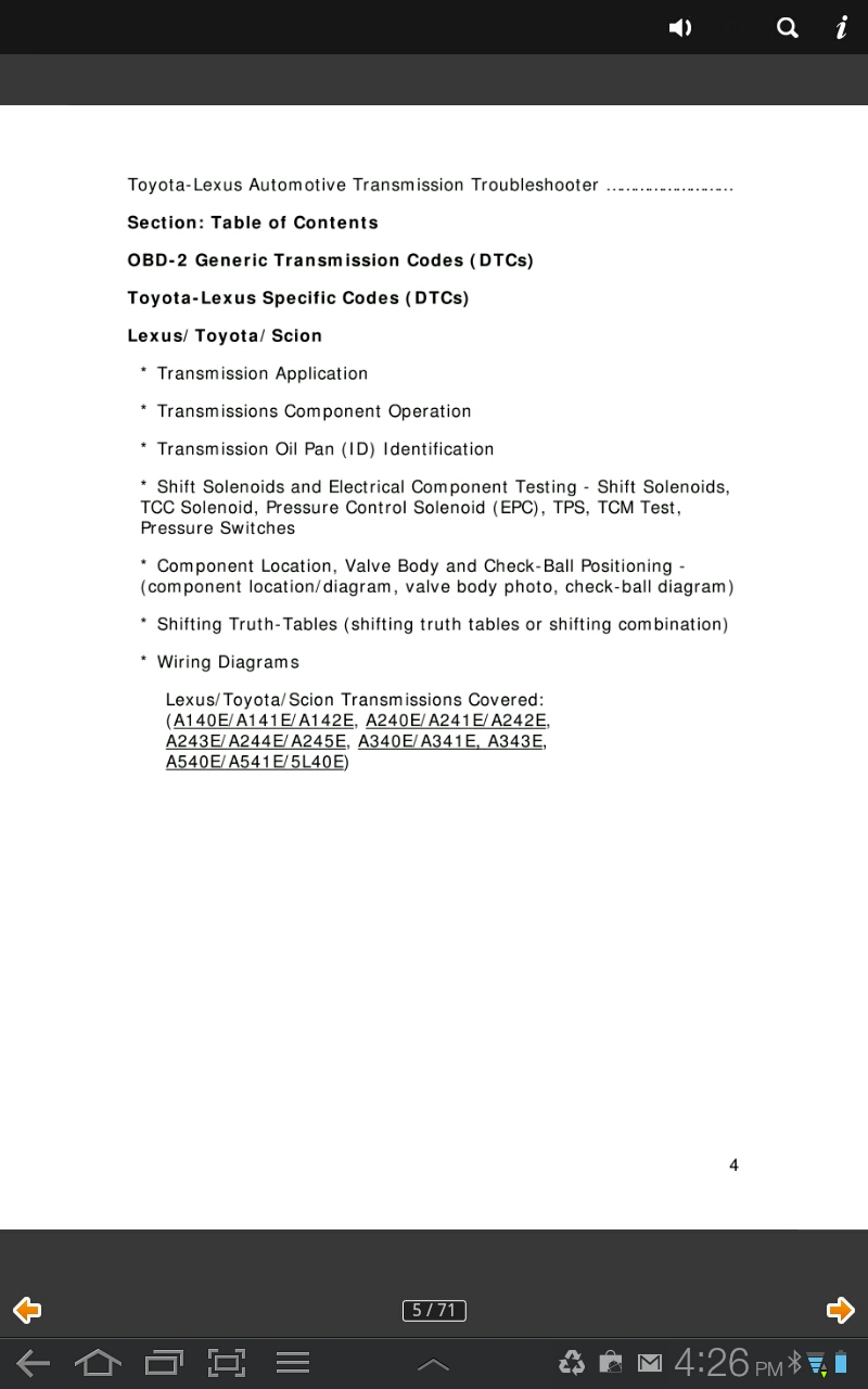 Toyota Lexus Transmission Troubleshooter Appstore For Wiring Diagram 000