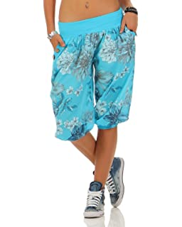JLTPH Donna Pantaloni Capri 3//4 Pianura Casuale Sciolto Aladin Harem Pantaloni Larghi Yoga Pantaloni Taglia Grandi
