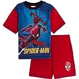 MARVEL Boys Spiderman Short Pyjamas Kids Avengers Shortie Pjs Set Superhero Summer Nightwear