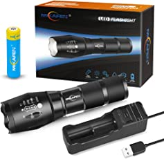 Wiederaufladbare Led Taschenlampe taktische Taschenlampe Outdoor mit USB-Ladegerät und 18650 Akku, beste Taschenlampe für Camping, Wandern, Auto-Notfälle und Hausreparatur
