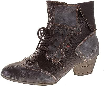 TMA 8909 Modische Damen Stiefeletten Stiefel Leder Schuhe grün alle Gr 36-42