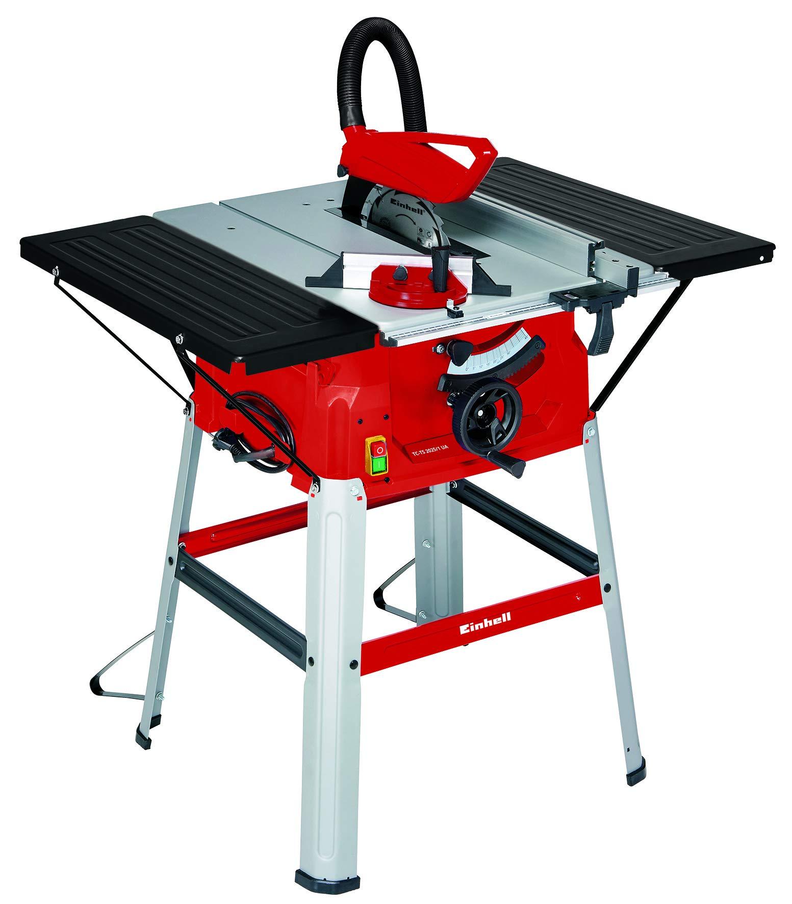 Einhell Tischkreissäge TC-TS 2025/1 U (2000 W, Sägeblatt Ø 250 x Ø 30 mm, max. Schnitthöhe 85 mm, Tischgröße 640×487 mm)