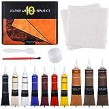 Magicfly Vinyl en Leer Reparatie Kit 10 Kleuren voor Meubels, Bank, Jas, Bootstoel, Leren Reparatieset voor Banken, Autostoel