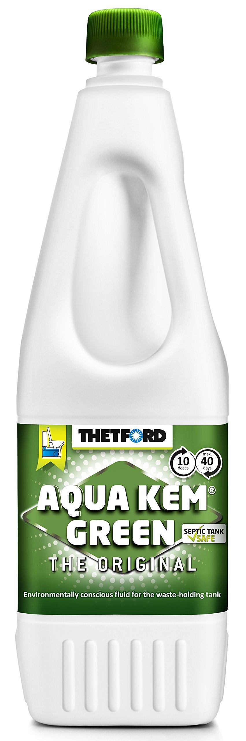 Thetford Aqua Kem Green Toilet Fluid, Green, 1.5 Litre