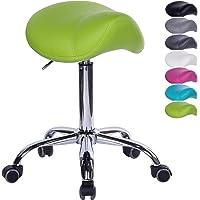 1stuff® Sattelhocker Sattelstuhl MULY für rückengerechtes Sitzen - Sitzhöhe bis ca. 74cm - Rollhocker Arzthocker…