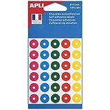 Apli 11335 - Pochette de 150 oeillets de couleurs assorties Ø 15 mm