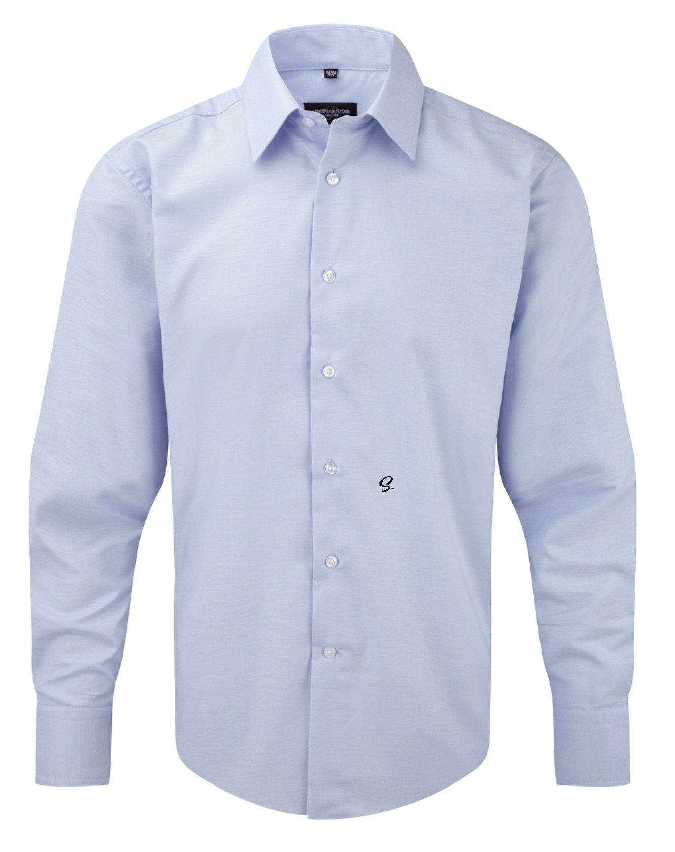 CAMICIA JE922M CON INIZIALE RICAMATA  S  Men's Long Sleeve Tailored Oxford Shirt - Tutte le taglie