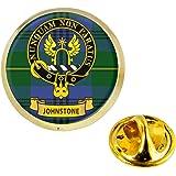 I LUV LTD Johnstone Clan Scozzese Cresta Risvolto Perno Tesserino in Colore Oro Prodotto della Scozia