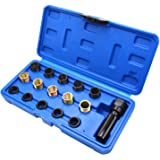 POHOVE 16pcs//set Spark Plug Repair Kit Spark Plug Tap Thread Repair Tools with Portable Case 14mm x 1.25 M16 Screw Tap and Screw Thread Repair Tool Set for Automotive Engine Repair