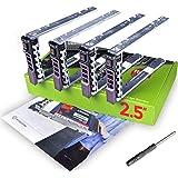 WorkDone 4 pezzi - Vassoio caddy da 2,5 pollici per disco rigido, per server PowerEdge Dell T440 T640 R330 R430 T430…