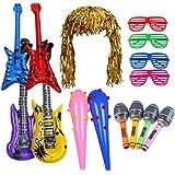 Juguetes Cumpleaños Infantiles Niños-Juguete de Instrumentos Guitarra, Saxofón, Beth, Espada Pirata de Inflable, Peluca de Es