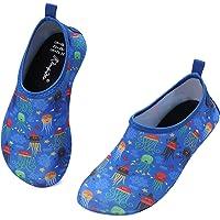 Kkomforme Unisex Kids Water Shoes, Swim Skin Shoes Non-Slip Quick Dry Barefoot Aqua Socks For Beach, Swimming Pool, Surfing, Yoga, Exercise