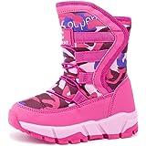 UBFEN Stivali da Neve Bambini Inverno Stivaletti con caldo rivestimento interno Ragazzi Scarponi da Neve Outdoor Sneakers