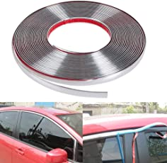 GOLSM Car Side Window Door Beading Stylish Beading Roll Size 15mm Meter 10 Chrome for Honda City Zx