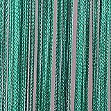 JEMIDI Fadenvorhang Tür Vorhang Gardine Schal Faden Türvorhang Fadengardine in 2 Größen (Türkis, 90cm x 250cm)