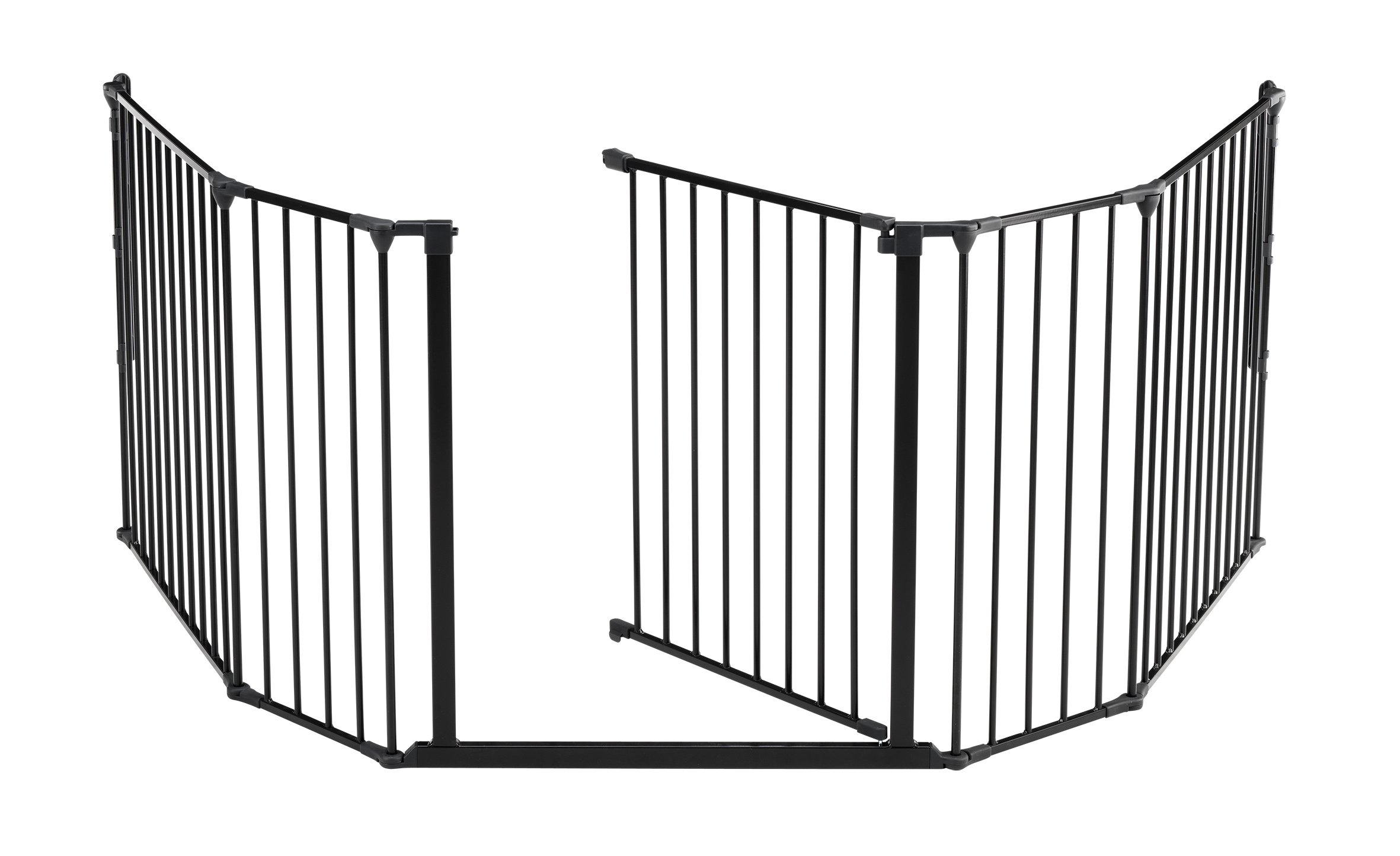 BabyDan Hearth Gate/Room Divider (Extra Large, 90-278cm, Anthracite)  Only configure system fulfilling newest european safety standard Multi purpose hearth gate and room divider There are 5 panels in total, 1 larger 72cm gate section panel, 2 larger 72cm panels and 2 smaller 33cm side panels. For shipping purposes, the 2 smaller side panels are connected by the interlocking pole 3