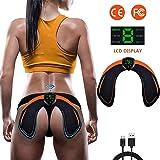 Electroestimulador Muscular Gluteos,EMS Electroestimulador Gluteos,Estimulador Muscular Ejercitar Gluteos USB Recargable(Homb