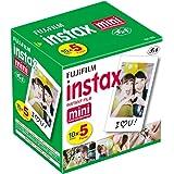 Fujifilm Instax Mini Instant Film, 10 fogli (confezione da 5)