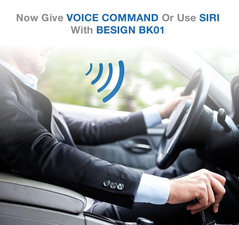 Besign-Bluetooth-41-Freisprecheinrichtung-Freisprechanlage-Bluetooth-Empfnger-fr-KFZ-Auto-Lautsprechersystem-mit-35-mm-Klinke-Schwarz-mit-Noise-Isolator