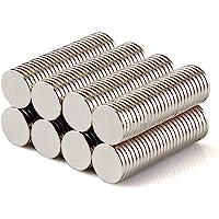 Yizhet 50 Solides pièce d'aimant de néodyme N42 8 x 1 mm disques circulaires Super-aimants