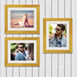 ArtzFolio Wall Photo Frame D532 Golden 8x10inch;Set of 3 PCS with Mount