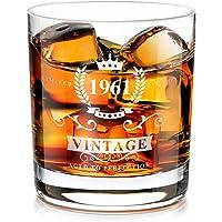 1961 60e Anniversaire Cadeau pour Homme, Verre à Whisky à L'ancienne Fabriqué à la Main, Cadeau D'amoureux de Whisky…