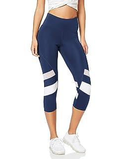 Brand AURIQUE Womens Capri Panelled Sports Leggings