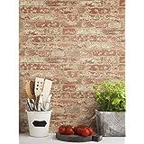 ورق حائط كريمي وقشور من روم ميتس RMK9035WP أحمر