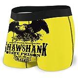 Yuanmeiju Mens Boxer Shorts Fitted Briefs Shawshank Prison Trunks Quick Dry Underwear