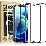 Cocoda 3 Piezas Protector Pantalla Compatible con iPhone 12 y 12 Pro con Marco Instalación Fácil, Dureza 9H, Sin Burbujas, Co