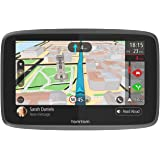 TomTom GPS Voiture GO 6200 - 6 Pouces, Cartographie Monde, Trafic, Zones de Danger via Carte SIM Incluse, Appel Mains-Libres
