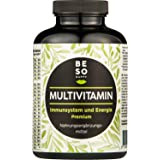 """BeSoHappy® Premium Multivitamine (180 tabletten voor 6 maanden)""""All in One"""" met hoogwaardige, zeer effectieve ingrediënten -"""