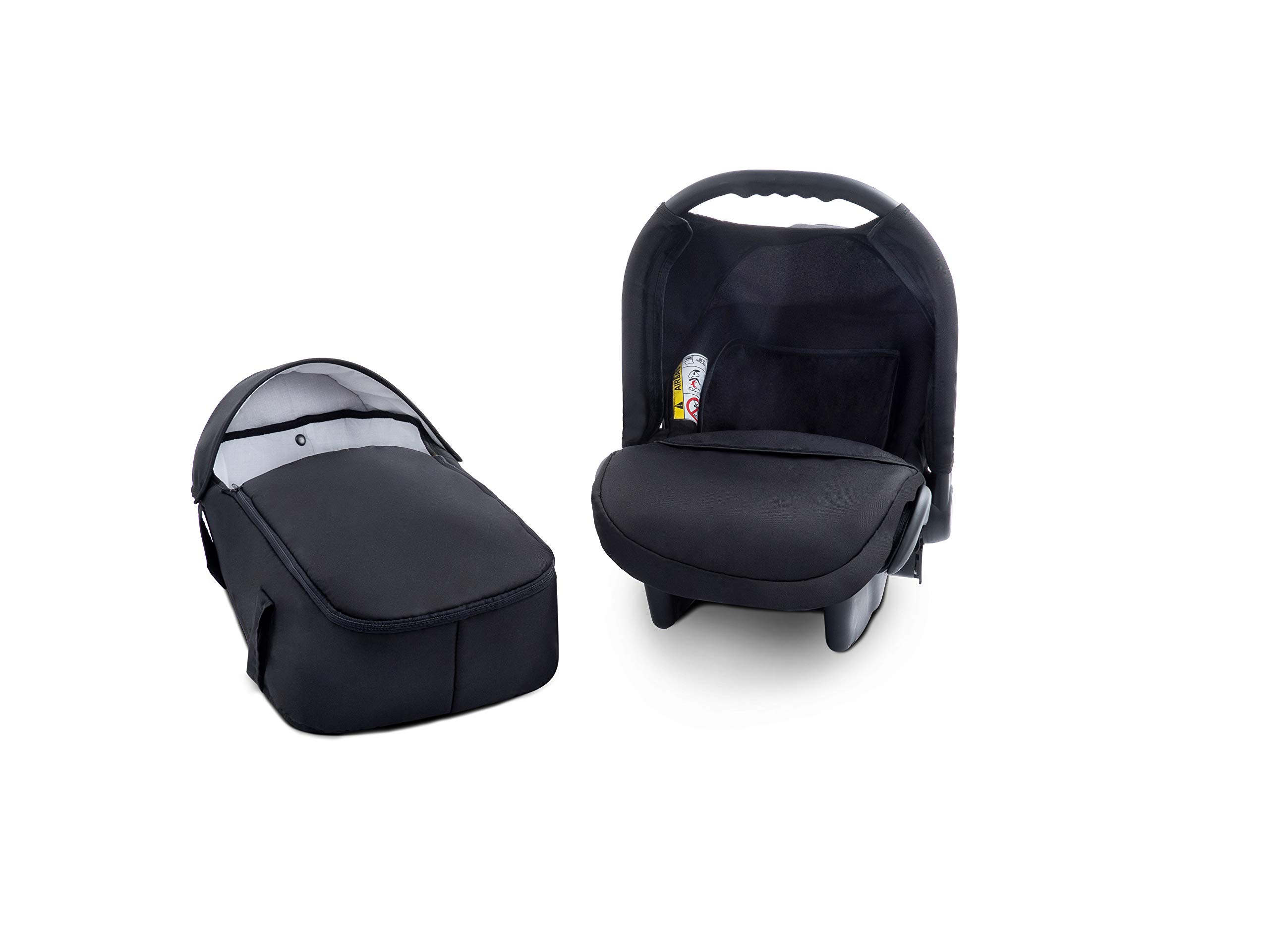 Baby Pram Zeo Mio 3in1 Set - All You Need! carrycot Gondola Buggy Sport Part Pushchair car seat (M1)  3 in 1 combination stroller complete set, with reversible handle to the buggy, child car seat or baby carriage Has 360 ° swiveling wheels, two-fold suspension, four-stage backrest, five-position adjustable footrest and a five-point safety belt The stroller can be easily converted into other functions and easy to transport 9