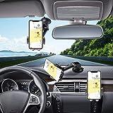 Hapfish Telefoonhouder Auto, 3 in 1 Universele Mobiele Telefoonhouder Auto voor Dashboard en Voorruit en Ventilatie, 360° Rot