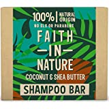 Faith in Nature Natural Coconut and Shea Butter Shampoo Bar, Hydrating, Vegan and Cruelty Free, Paraben and SLS Free…