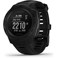 Garmin Instinct - Tactical Edition Rugged Outdoor Smartwatch, Built-in Sports Apps and Health Monitoring, Black