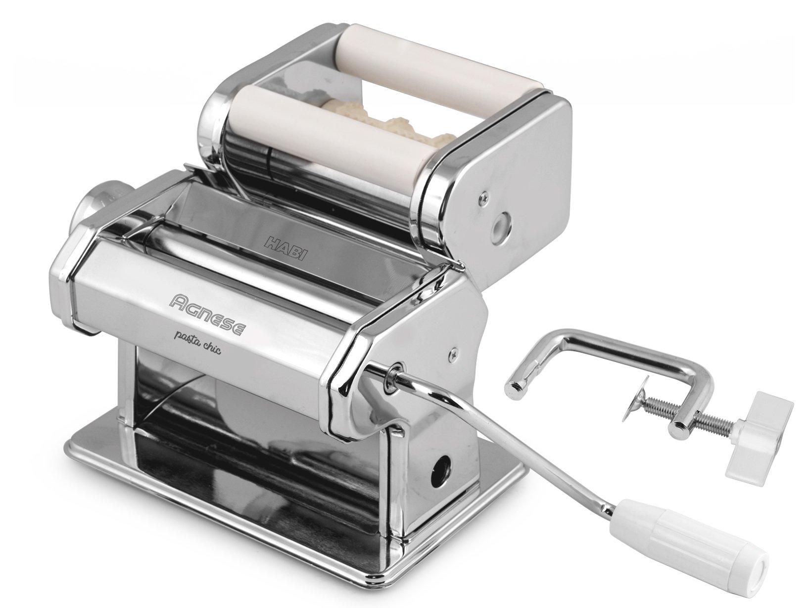 Habi 8409600 Macchina Pasta per Ravioli, 150 mm, Inossidabile, Acciaio