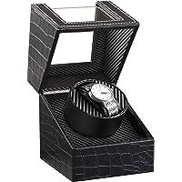 HBselect Watch Winder per Orologio Scatola Carica Orologio Automatico in Pelle PU Winder per Orologi Nero Espositore…