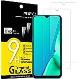 NEW'C 2-pack skärmskydd med Oppo A9 2020, Oppo A5 2020 – Härdat glas HD klar 9H hårdhet bubbelfritt