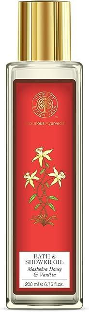 Forest Essentials Honey and Vanilla Moisture Replenishing Bath and Shower Oil, 200ml