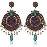YouBella Fashion Jewellery Bohemian Stylish Multi-Color Fancy Party Wear Earrings for Girls and Women