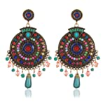 YouBella Non Precious Metal Fashion Jewellery Bohemian Stylish Multi-Color Fancy Party Wear Earrings for Girls and Women