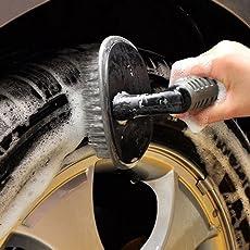 CVANU® Wheel Tire Rim Scrub Brush Hub Clean Wash Useful Brush Car Truck Motorcycle Bike Washing Cleaning Tool for Mahindra XUV 500
