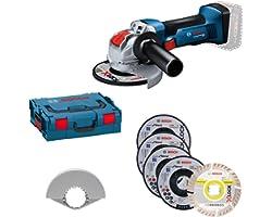 Bosch Professional 18V System haakse slijpmachine GWX 18V-8 (schijf-Ø 125 mm, met X-LOCK-opname, incl. 5-delige doorslijp- en